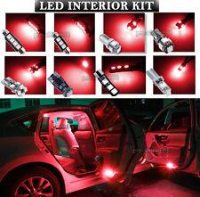 Canbus LED Car Interior Light Bulbs Package Kit For 1998-2006 AUDI TT -- Red