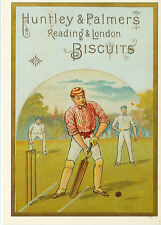 """HUNTLEY & PALMERS  BISCUITS-CRICKET-READING & LONDON-REPRO-4""""X6""""(DV-349*)"""