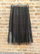 🖤🖤 FRANSA Black Lace Victoriana Steampunk Goth Skirt 36