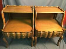 Dixon Powdermaker Walnut Nightstands Vintage End Tables Orleans Collection