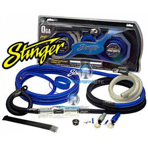 STINGER SK6201 0 GAUGE GA 6000 AMP RCA WIRE POWER AMPLIFIER INSTALLATION KIT NEW