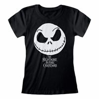 Women's The Nightmare Before Christmas Jack Skellington Black Fitted T-Shirt