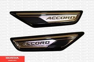 Genuine Honda Accord Black Fender Emblem Accent Trim Fits: 2018-2021 Accord