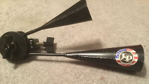 Vintage LP Latin Percussion Agogo Bells With Mount