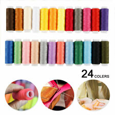 New 24PCS/Set Assorted Colorful Polyester Sewing Thread Spools