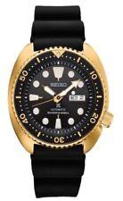 Seiko Men's Prospex Automatic Diver Gold Tone Silicone Strap  Watch SRPC44