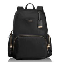 $360 Tumi CALAIS BACKPACK Voyageur Black Nylon  Gold Zippers