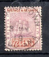 British Guiana 1889 72c purple/red brown very fine used SG203 WS10849