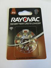 16 xRayovac Acoustic Special Hörgerätebatterien 312  Pr41 Farbe Braun 1,45V