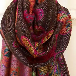 Beautiful Butterfly Luxury Woven Pashimina Style Scarf with Tassels