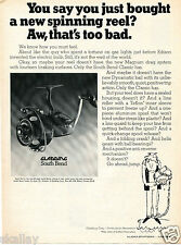 1969 Print Ad of Gladding Sount Bend Classic Spinning Fishing Reel