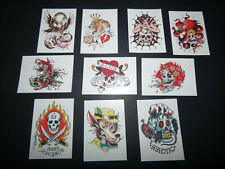 ED HARDY Original Celebrity Temporary Vintage Tattoos #3 Collector 10pc set NEW