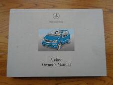 MERCEDES BENZ CLASSE A Proprietari Manuale/MANUALE 98-01