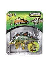"4"" Stegosaurus Robot Action Figure Dinosaur Transformer Toys Kids Gifts Prizes"