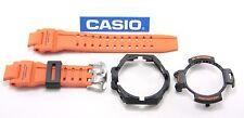 CASIO GA-1000-4A G-Shock Orange Band & Black Top & Bottom Bezel Combo GA-1000