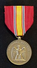 National Defense Medal Vietnam War Badge Pin w Ribbon Vintage