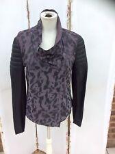 Stunning Muubaa Leopard Print Cowl Neck Leather Jacket - BNWOT