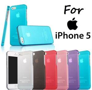 Apple iPhone 5S SE 2016 Ultra Thin Slim Fit Matte Transparent Hard Case Cover