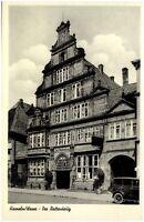 Hameln Weser Ansichtskarte 1954 gelaufen Straßenpartie am Rattenkrug altes Auto