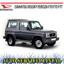 DAIHATSU ROCKY FEROZA F70 F75 F77 REPAIR SERVICE MANUAL ~ DVD