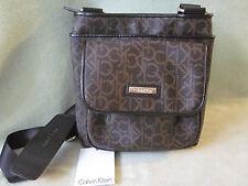Calvin Klein Khaki/Brown Signature PVC Crossbody/ Shoulder BAG NWT Cute Bag!