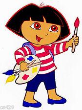 """7"""" Dora nick jr artist painter wall safe sticker border cut out character"""