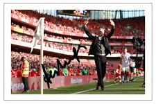 ARSENE WENGER FINAL HOME MATCH  ARSENAL SIGNED AUTOGRAPH PHOTO PRINT  SOCCER