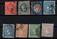P135037/ SPAIN STAMPS – YEARS 1864 - 1866 USED CLASSIC LOT – CV 140 $
