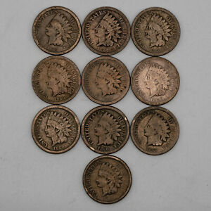 1860 C/N INDIAN HEAD CENT PENNY LOT 1C COPPER NICKEL GOOD TO FINE DETAILS