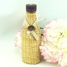 Vintage Wicker Wrapped Perfume Bottle Devon Violets with Ribbon & Wax Seal