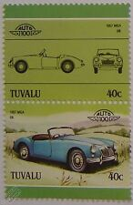 1957 MG / MGA Car Stamps (Leaders of the World / Auto 100)