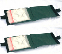 2 x Green Sea Fishing rig wallets with 15 pockets rigs beach rig storage pouch