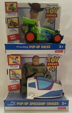 Toy Story 4 Racing RC Woody Pop-Up Racer Buzz Spaceship Disney Fisher Price