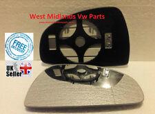 Audi TT 2007-2014 DRIVER SIDE Door/Wing Mirror Glass  Aspheric,Heated