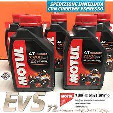 5 Litri Olio MOTUL 7100 4T 10W40 Sintetico Estere Moto Strada Alte Prestazioni