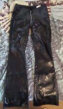 Black Level PVC Flared Trousers Long Zip Fetish Goth Punk Alternative