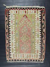 "Turkish Kilim Rug from Sivrihisar Eskisehir Anatolia Wool 4""86' X 3""54'"
