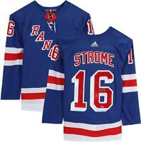Ryan Strome New York Rangers Autographed Blue Adidas Authentic Jersey