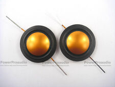 "2PCS  25.4mm 25.5mm (1"") silk+Gold Titanium diaphragm dome Tweeters voice coil"