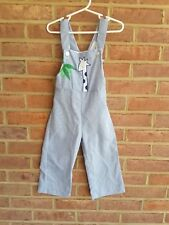Vintage Thomas Pinstripe overalls romper cute giraffe size 3 years USA made