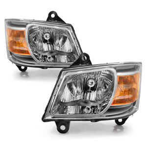 For 08-10 Dodge Caravan OE Style Headlight Replacement Lamp Assembly Left Right
