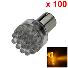 100x Yellow AUTO 1156 Tail Lamp Indicator Light 24 In-line LED 1093 1759 D028
