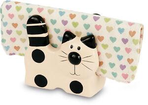 2Kewt Cat Ceramic Letter or Napkin Holder
