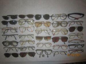 Mix Lot of 33 AO-Carrera-Ray-Ban-more Eyeglasses VINTAGE Pilot Aviator Gold SEXY