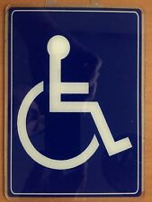 "WHEELCHAIR HANDICAP SIGN (PEEL & STICK) 5"" x 7"" Acrylic"