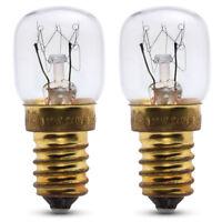 2x Lampe four 15W pour four Candy 240v jusqu'à 300° Ampoule cuisinière SES E14