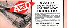 Allbright Neil Co ANCO Meat Industry Equipment Chicago Ill advertising blotter