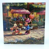 Thomas Kinkade DISNEY Mickey & Minnie Mouse SWEETHEART CAFE Puzzle 2017