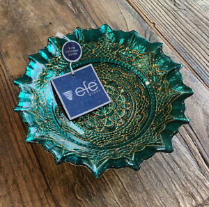 Efe Glass 100% Genuine Silver Plated Bowl Made in Turkey New