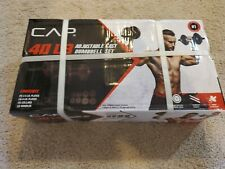 NEW 🔥 CAP 40 Lb Total Adjustable Cast Iron Dumbbell Weight Set